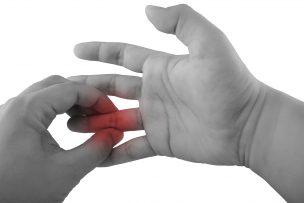 指の痛みの筋膜リリース