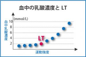 血中乳酸濃度とLT