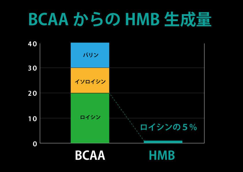 ロイシンからのHMB合成量