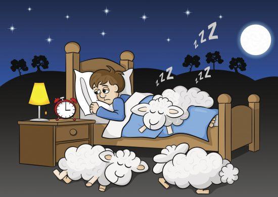 ストレス性不眠症と熟睡する羊